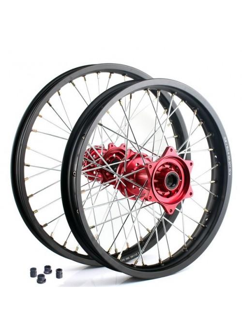 Диск колесный в сборе пара Honda (переднее 21х1.6 36 / заднее 19х2.15 32) black/red