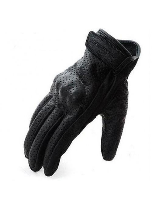 AGVsport Кожаные перчатки Classic, черные, перфорация