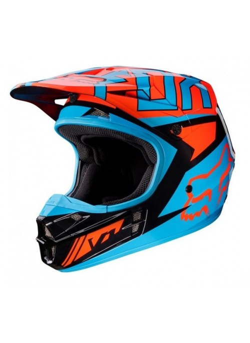 Мотошлем Fox V1 Falcon Helmet Black/Orange